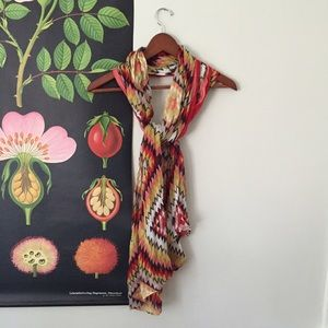 Accessories - Southwest Scarf in Red, Pink, Yellow and Black