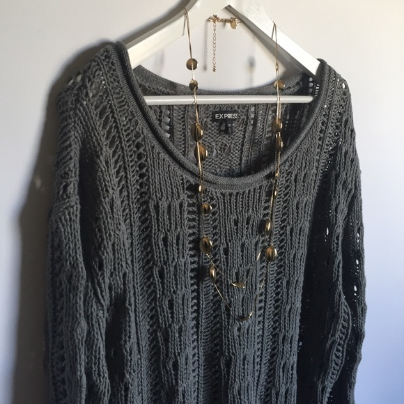 Express Sweaters - Express crew neck charcoal gray sweater sz S