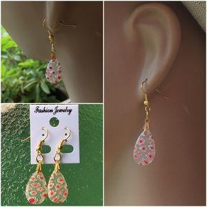 Jewelry - 4 FOR $25  Glass Water Drop Earrings