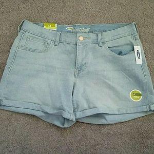 NWT Old Navy sweetheart cuffed denim shorts