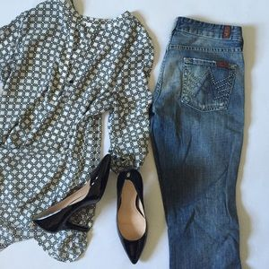 7 For All Mankind A pocket studded jeans 26x32
