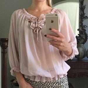 Vanity Tops - Premium Vanity Collection blush blouse; size S
