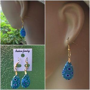 Jewelry - 4 FOR $25 🎁🎄🍾🥂 Glass Water Drop Earrings