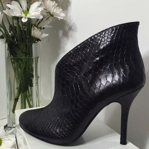 Vince Camuto Snakeskin Leather Ankle Boots