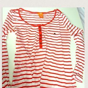 Joe Fresh Tops - 🍊Joe Fresh orange and white striped shirt