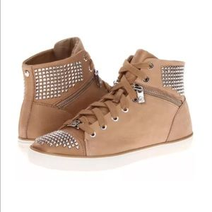 Michael Kors Studded Leather High Top Sneakers