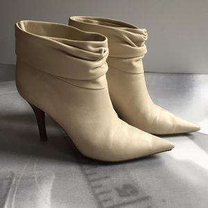 BCBGirls cream booties; size 5,5