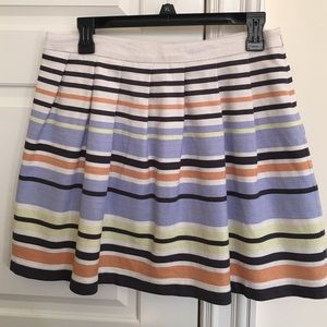 Forever 21 colorful striped skirt with pleats