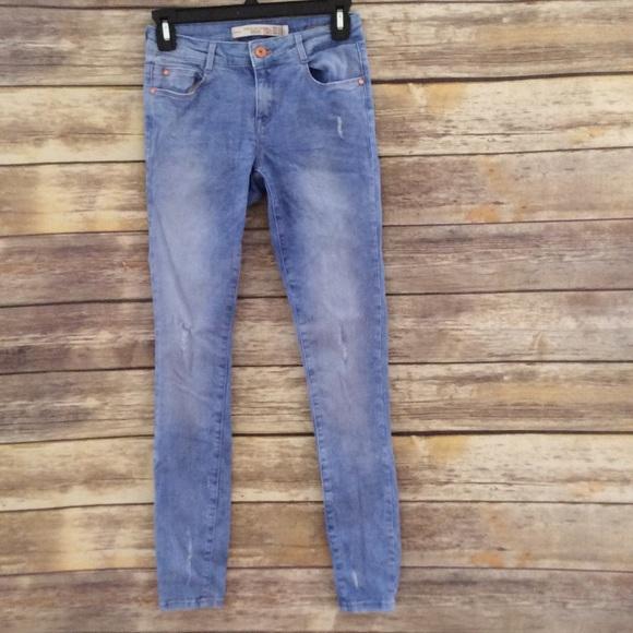 6f885e09 Zara Trafaluc premium wash denim jeans SZ 4 skinny.  M_57d8782a522b45e60700e026