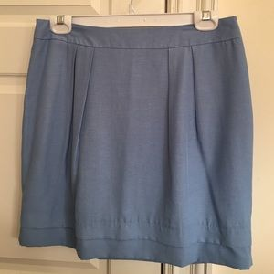 Forever 21 blue skirt with pleats and double hem