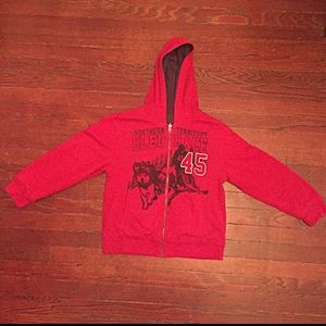 Faded Glory Other - BOYS REVERSIBLE Hoodie Sweater - L (10-12)