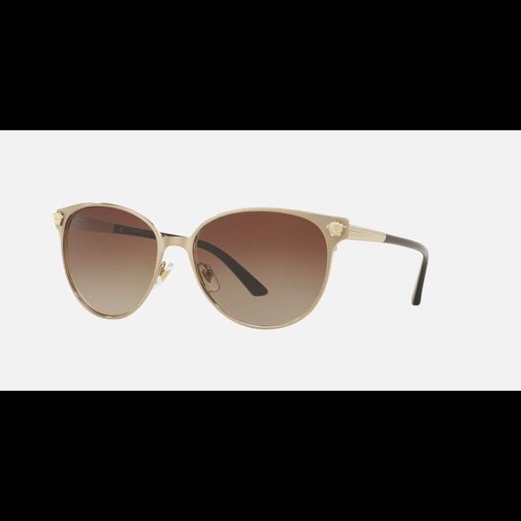 432ddaf8621f Versace Gold Brushed ve2168 Sunglasses