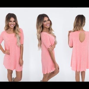 Dottie Couture Dresses & Skirts - 💕ONE DAY SALE 💕 Coral Acid Wash Dress