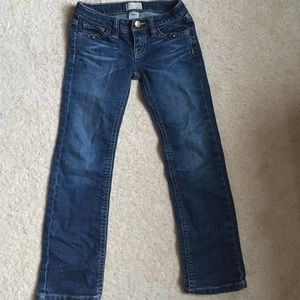 Little girls Gap denim jeans with metal studs