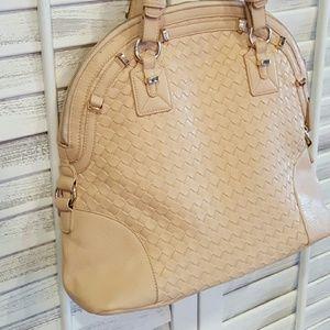 segolene paris Handbags - Segolene paris large peach/tan leather handbag