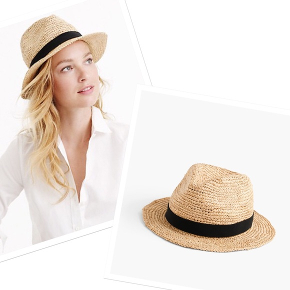 414f32ebe8d4f J. Crew Accessories - J. Crew Packable Straw Hat