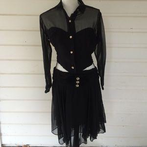 Vintage Black three piece Party Dress:Bundle
