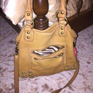 Linea Pelle tan leather handbag