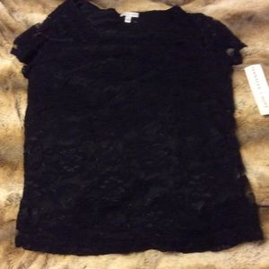Annalee + Hope Tops - ⏰SALE❗️ NWT black lace top with liner