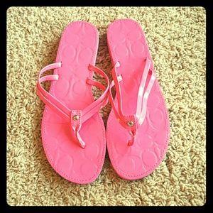 Coach Shoes - Coach Flip Flops Size 9