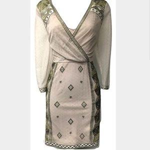 Karen Millen Dresses & Skirts - 🆕 Embroidered Mesh Dress - Gold