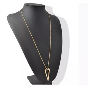 Jewelry - Gold triangle necklace
