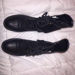Black combat boots, never been worn.