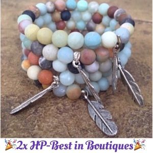 "Boho Gypsy Sisters Jewelry - ""A Day at the Beach"" stacking bracelet, NWT"