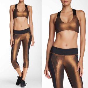 Pants - LUKKA LUX copper mesh metallic bra legging set