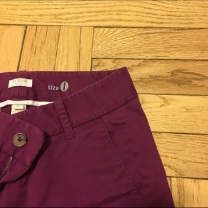 Pants - J. Crew factory plum Frankie pants
