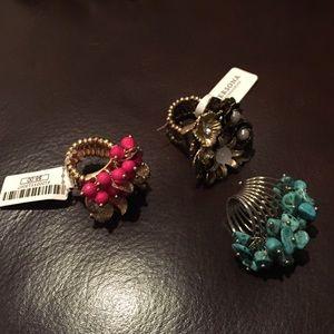 Lot of 3 fashion rings