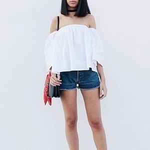 Nasty Gal Tops - White Off The Shoulder Bell Sleeve Top