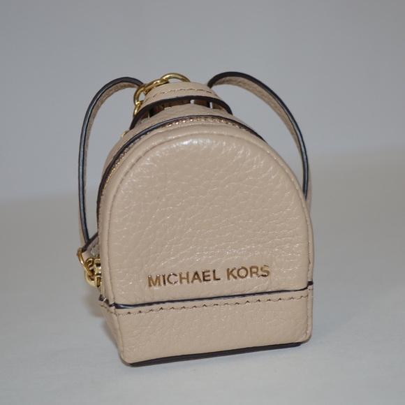 New Michael Kors Rhea backpack key chain key fob. M 57db357f4127d0bacf010e77 09d28eba7b