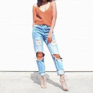 Last One! Ragged Boyfriend Jeans ✨