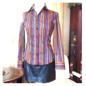 Etro Tops - Etro striped woman shirt made in Italy