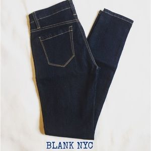 NEW Blank NYC Denim Dark Skinny Jeans Size 26