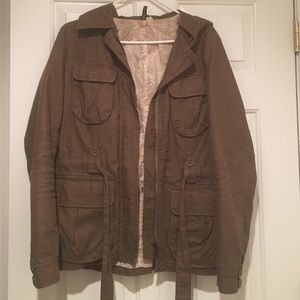 H&M Tie-waist, hooded fall jacket