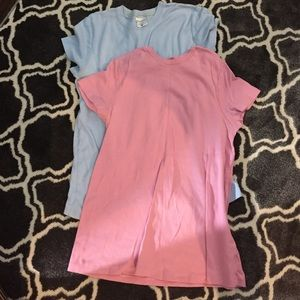 Lot of 2 maternity short sleeve tops medium shirt