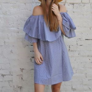 Boutique Dresses & Skirts - Off The Shoulder Ruffle Dress