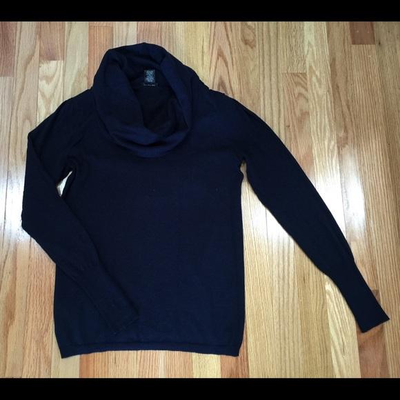 Ann Taylor - SOLD⚡️Ann Taylor-Navy Blue Cowl Neck Sweater, XS/S ...