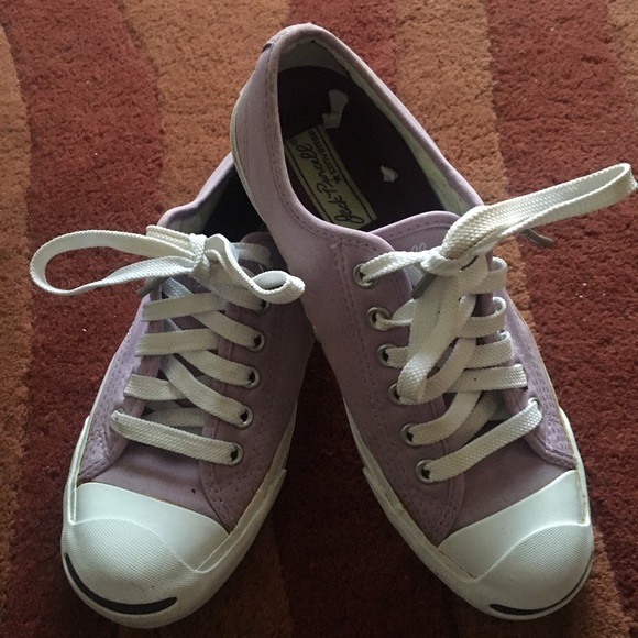 670ff5ea3aea24 Converse Shoes - 💜Lavender white converse Jack Purcell sneaks💜
