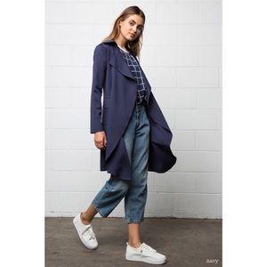 Jackets & Blazers - Neoprene Trench Coat