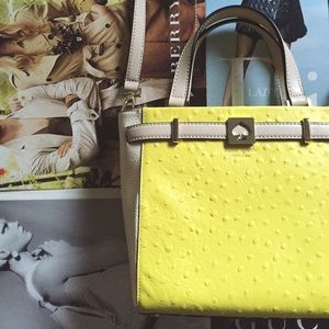 kate spade Handbags - large two tone leather satchel