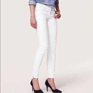 LOFT Denim - LOFT Modern Skinny Ankle Jeans -White