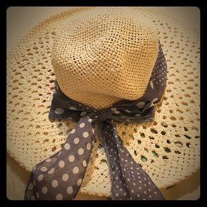 H&m ribbon straw hat