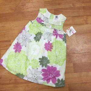 Carter's Other - Carter's green purple white dress 18 mo new Nwt