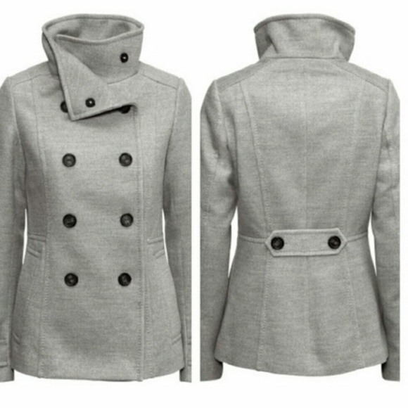 63% off H&M Jackets & Blazers - Grey H&M Women's Peacoat from ...