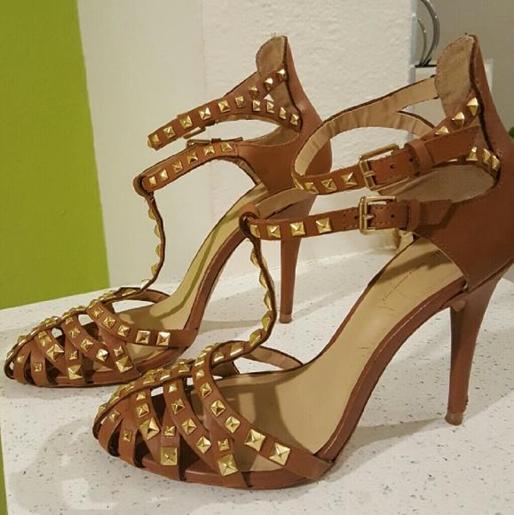 827b3d7008c Zara Shoes - Zara Collection Studded T-Strap Heels