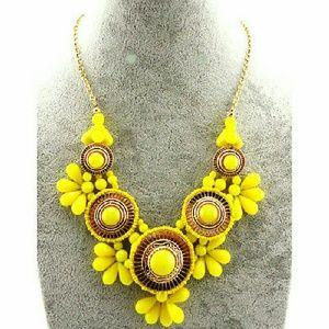 Jewelry - NEW! Retro Yellow Bib Statement Necklace Last One!