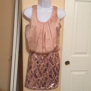 Charlotte russe satin/glitter dress